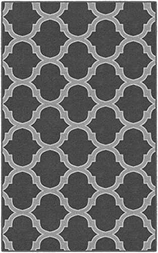 Brumlow Mills Two Toned Moroccan Trellis in Gray Traditional Lattice Area Rug, 5 x 8