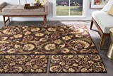 Universal Rugs 105328 Brown 3 Pc. Set 5-Feet by