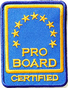 PRO Board Certified Logo Fire Service T Shirt Jacket Uniform Patch Iron on Embroidered Sign Badge Costume