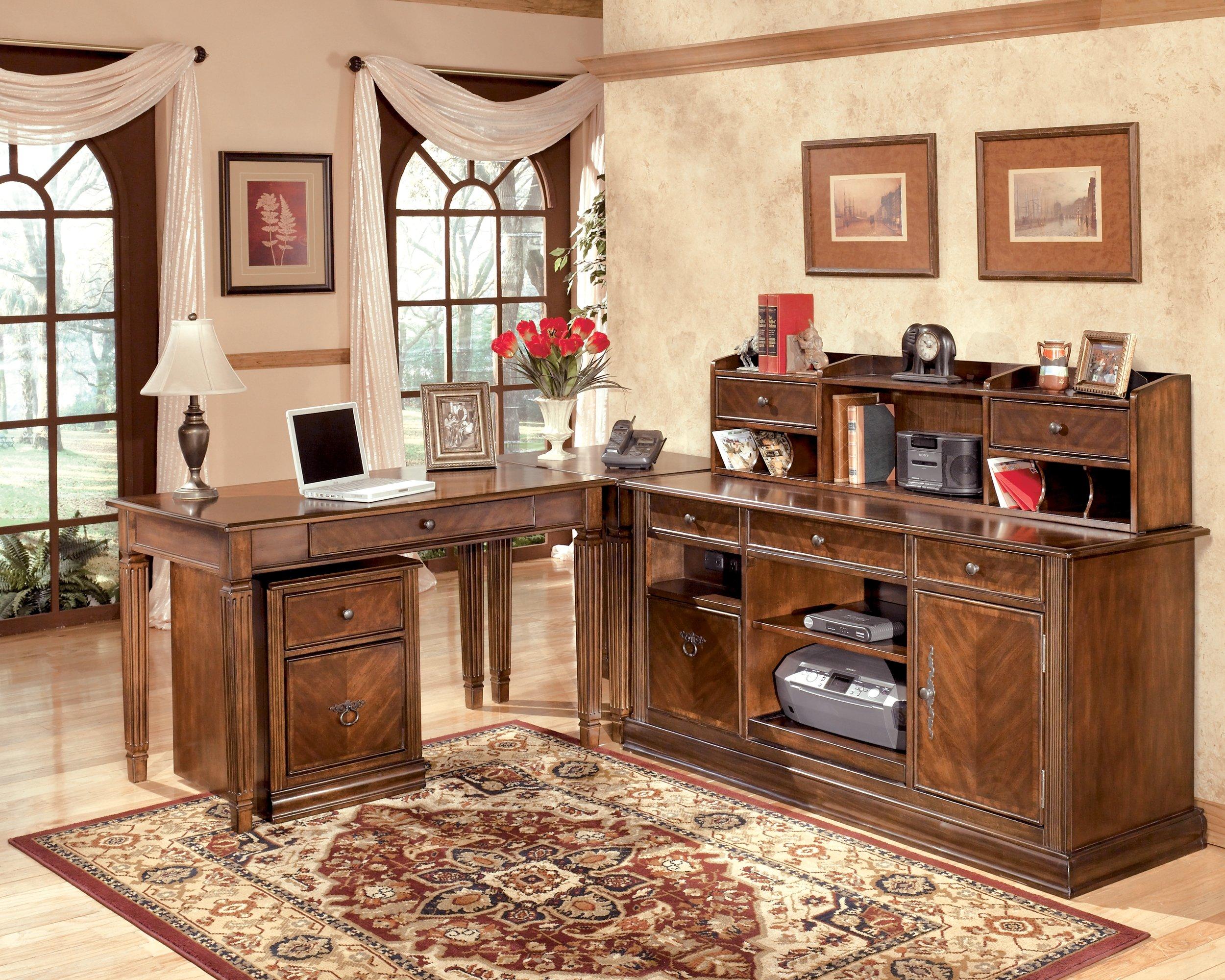 Ashley Furniture Signature Design - Hamlyn File Cabinet - 1 Drawer/1 File Drawer - Traditional - Medium Brown Finish