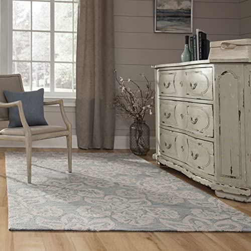 Momeni Rugs Summit Collection, Hand Knotted Transitional Area Rug, 8 x 10 , Light Blue