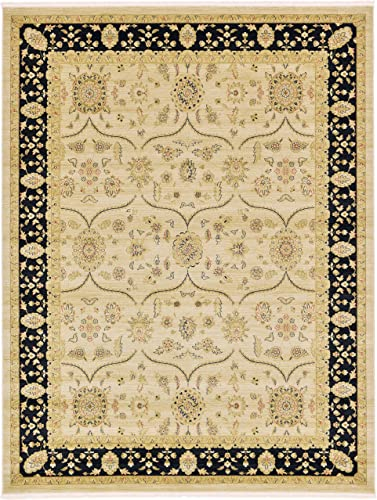 Unique Loom Edinburgh Collection Oriental Traditional French Country Beige Area Rug 9 0 x 12 0