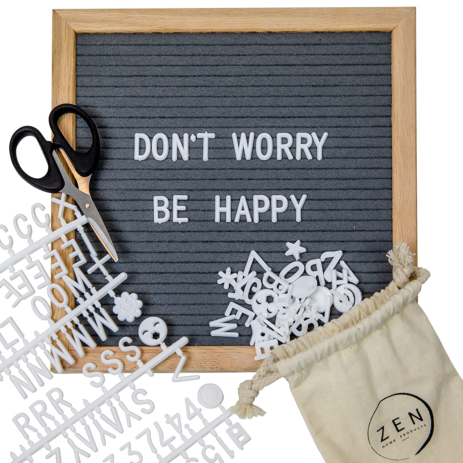 Introducing the 10x10 grey felt letter board by zen home for Felt letter sign