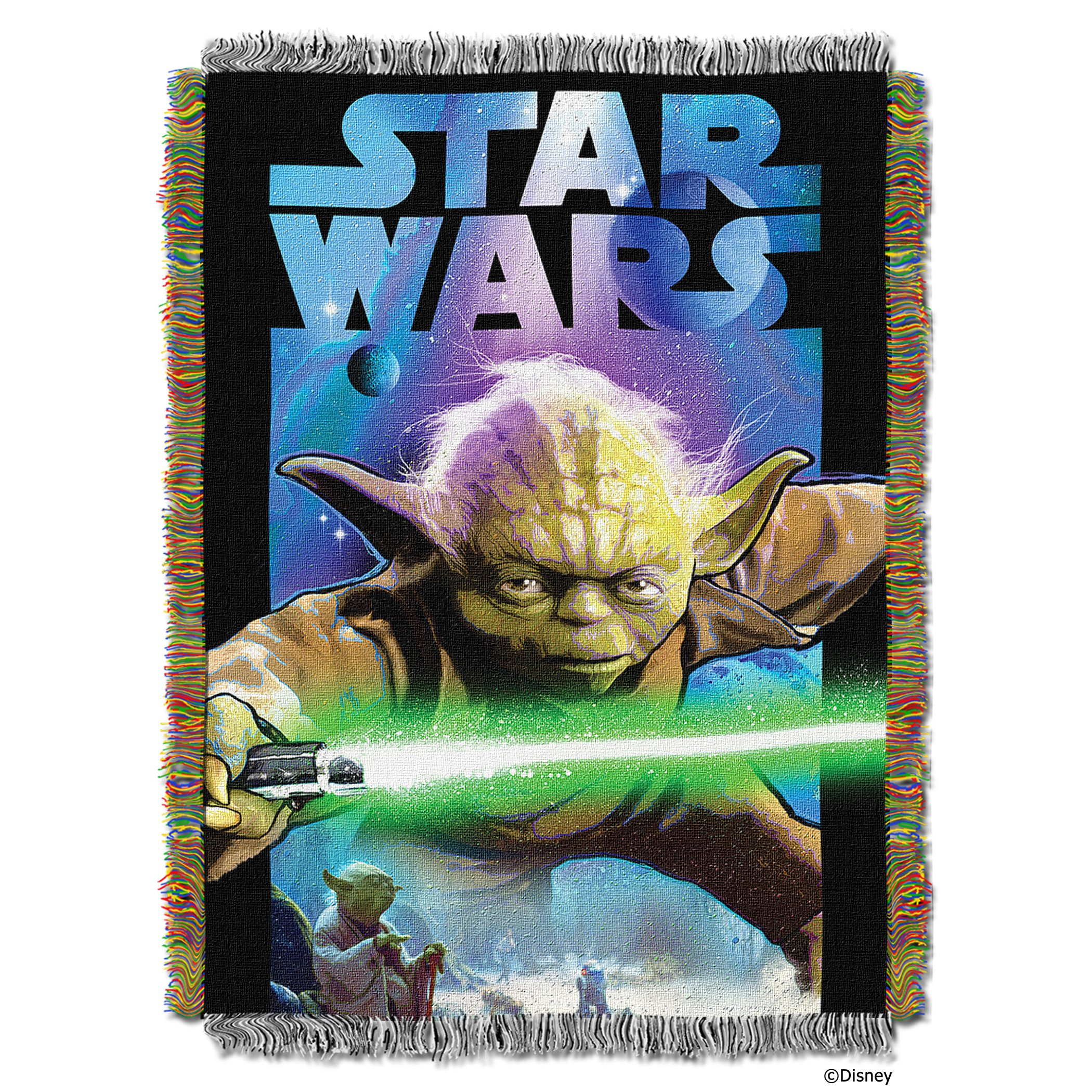 Lucas Star Wars,Powerful Ally Woven Tapestry Throw Blanket, 48'' x 60''