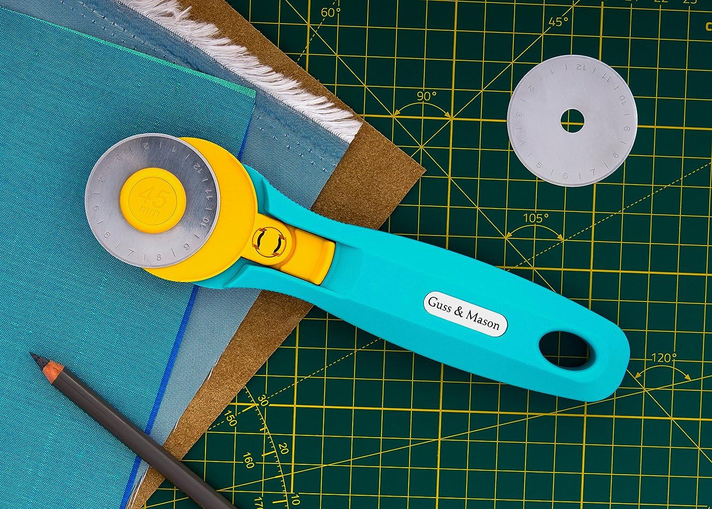 Guss /& Mason Set Taglierina Rotativa di Ricambio incluse Taglierina 45mm con protezione lama