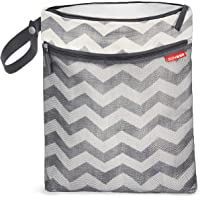 Skip Hop Grab and Go Wet/Dry Bag, Zebra Chevron, 12lx0.50bx15h inches