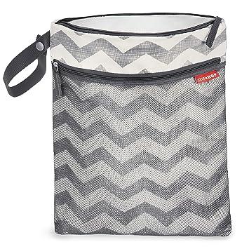 4293f8b4eb7b8a Skip Hop Waterproof Wet Dry Bag, Grab & Go, Chevron: Amazon.ca: Baby