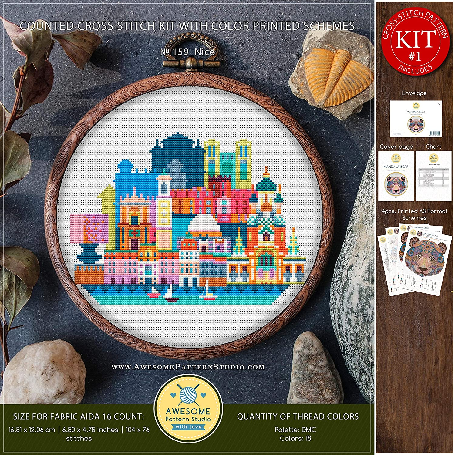 Nice #K159 Embroidery Cross Stitch Kit Embroidery Kits Cross Stitch Designs City Skyline Cross Stitch Patterns Stitch Design