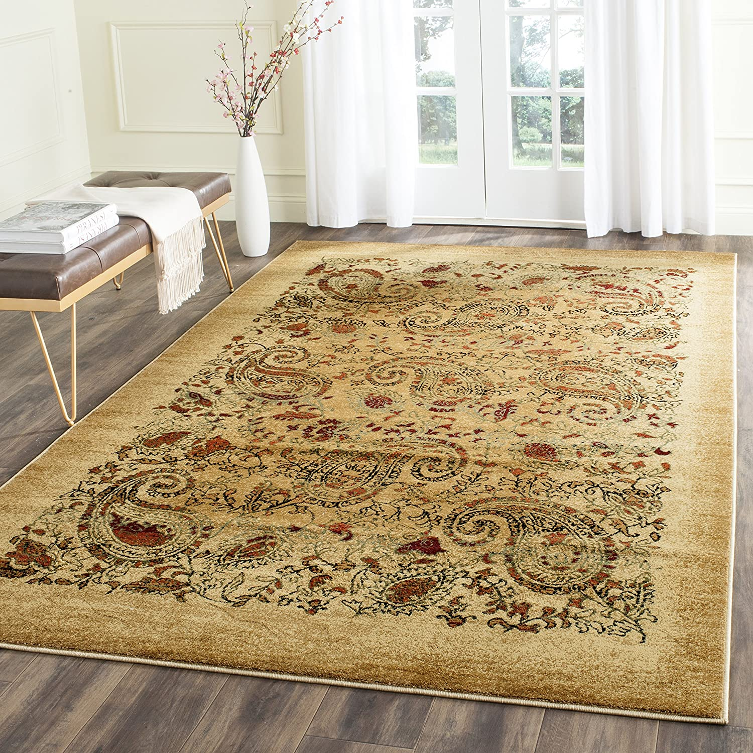 and kitchen amazon rug square safavieh com oriental collection adirondack rugs medallion area dp ivory dining silver vintage