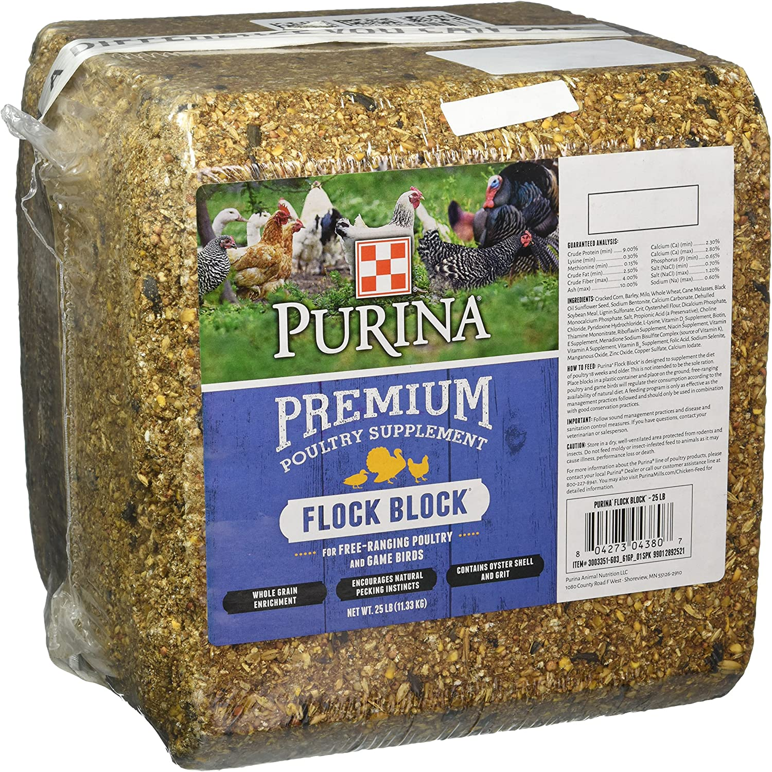 Purina Flock Block Supplement, 25 Pounds