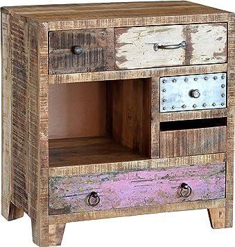 Amazon.de: Guru-Shop Kleine Kommode Vintage-Design, Mangoholz ...