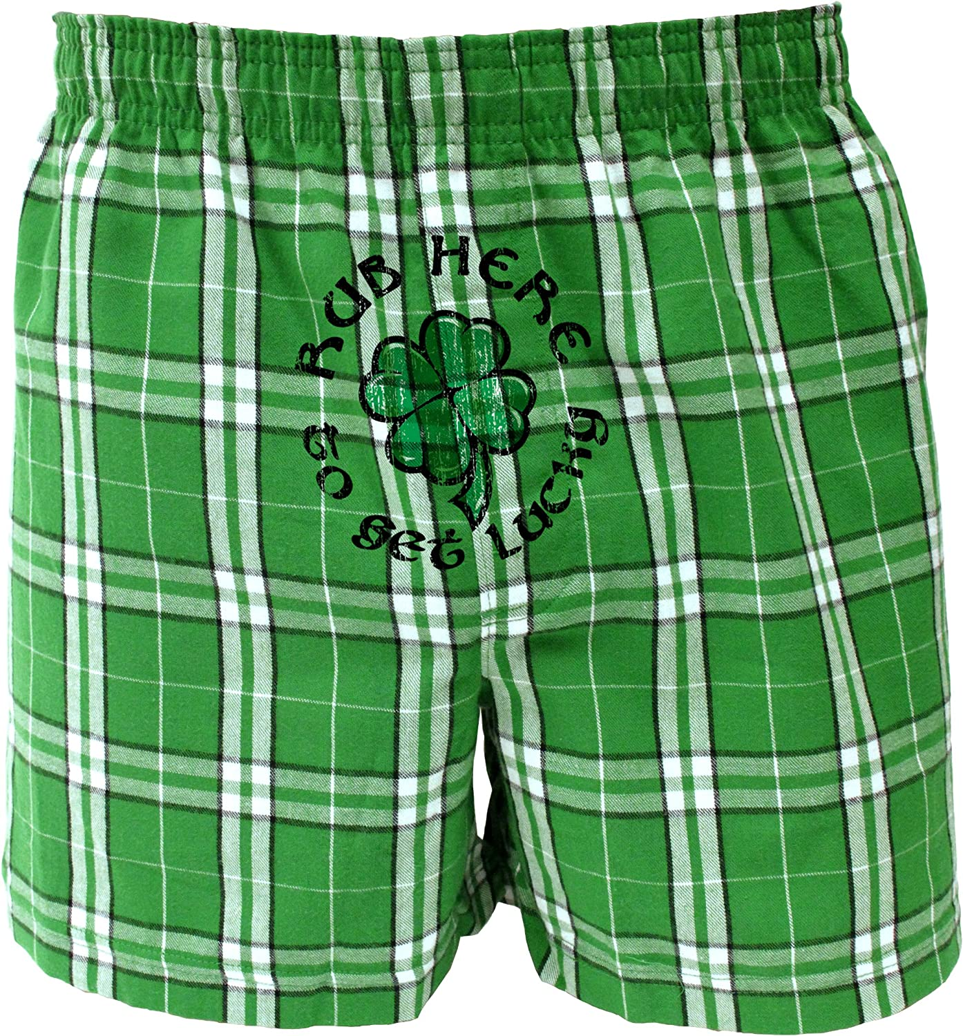 TooLoud Happy St Patricks Day Clovers Front Print Boxers Shorts