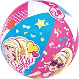 Bestway Beach Ball Barbie Design 20 Inches 51 cms   Play Anywhere Pool Garden Swimming   Colourful Ball   Age: 1+ Years