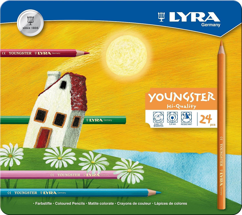 LYRA 2411360 Youngster 36 Unidades Lapiceros de Colores con Caja met/álica