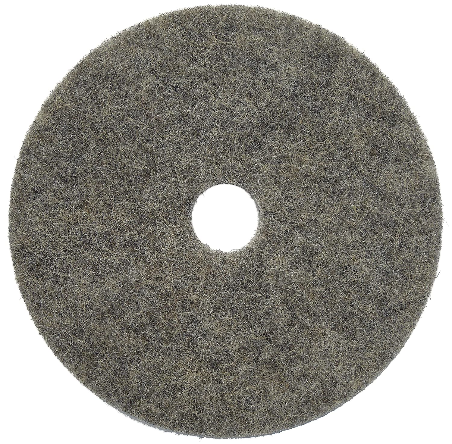 Black//White 20 Glit//Microtron 405320 Buckaroo Hard Finish Burnishing Pad Natural Fiber Pack of 5