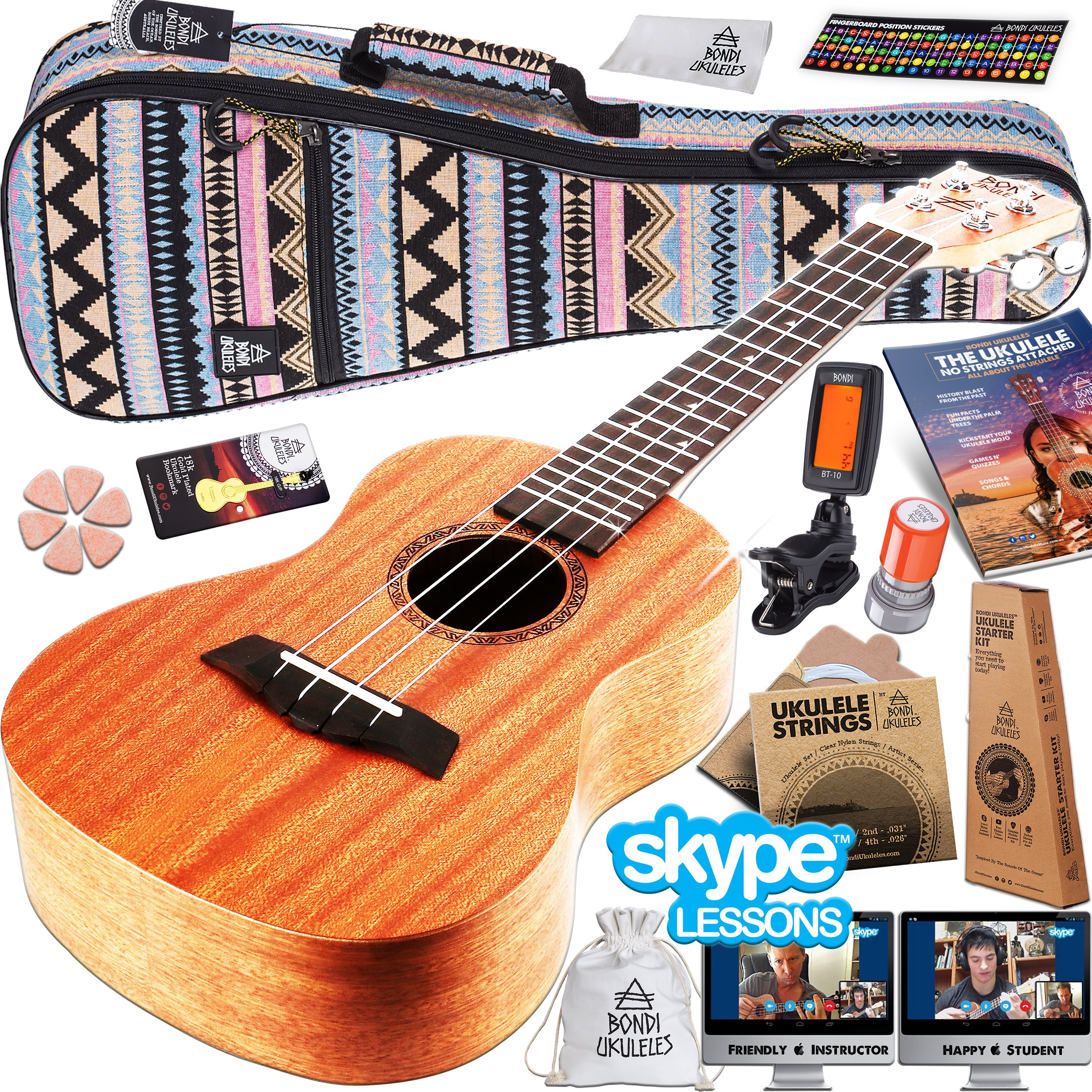 Best rated in ukuleles helpful customer reviews amazon ukulele starter kit 16 piece set acclaimed brand get official skype lesson hexwebz Gallery