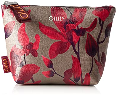 Oilily - Jolly Cosmeticpouch Mhz 1, Carteras de mano Mujer, Rot (Dark Red