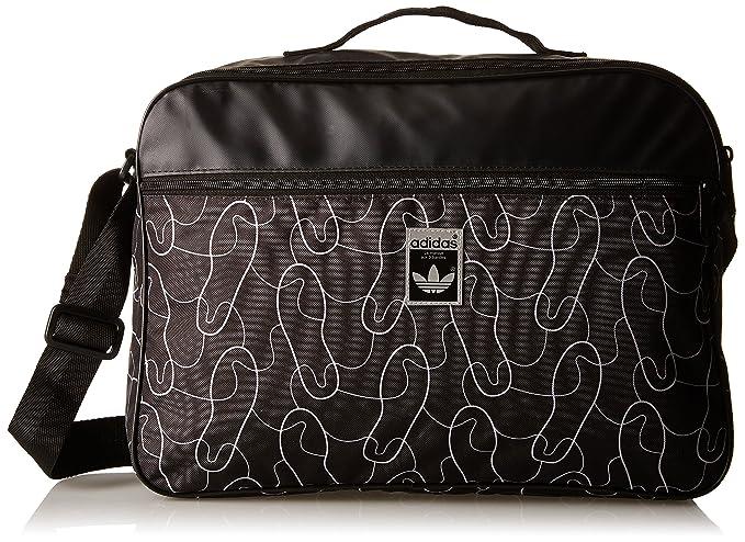1731c4d38a Image Unavailable. adidas Originals Mens Superstar Airliner One Strap  Zipped Shoulder Bag ...
