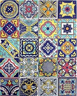Piastrelle 10x10 Colorate.10x10 Patchwork Piastrelle In Ceramica Vietrese Amazon It
