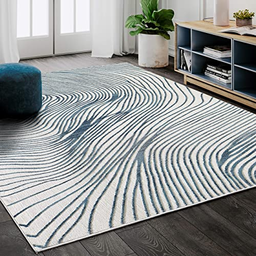 Abani Rugs Contemporary Wave Print 7' 9″ x 10' 2″ Rectangle Area Rug