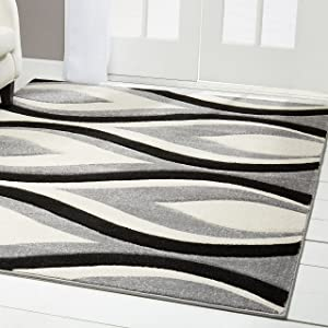 "Home Dynamix Sumatra Anise Area Rug 5'2""x7'2"", Abstract Gray"