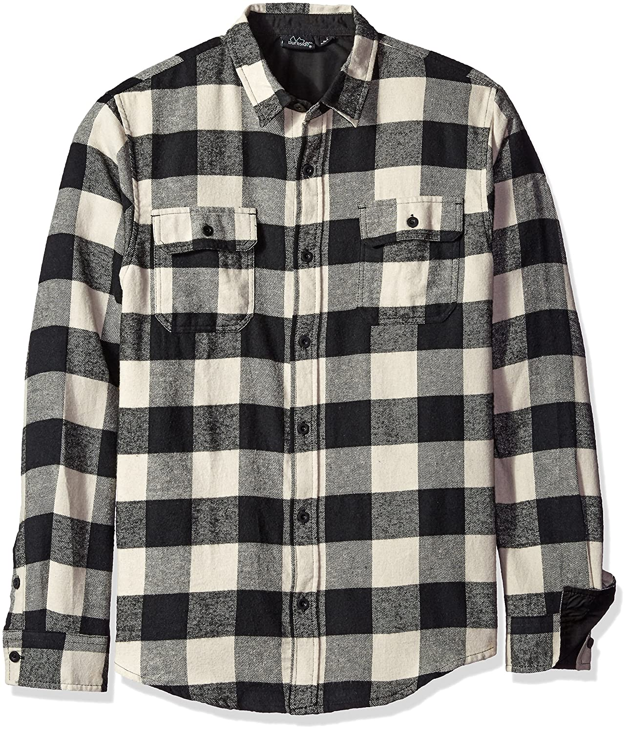 Burnside Men's Vector Plaid Flannel Woven Shirt Burnside Young Men' s AZBE8282
