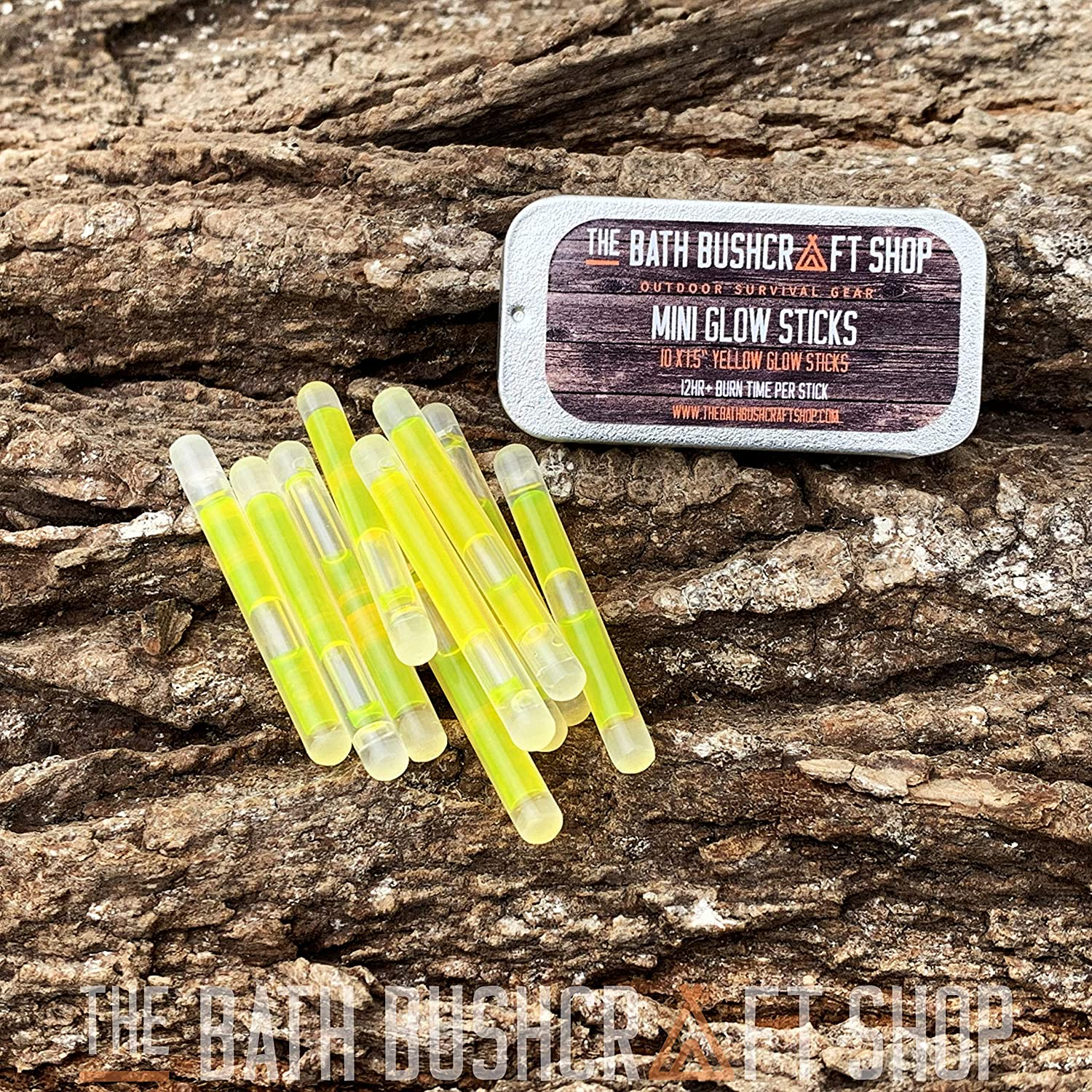 2 Pack Yellow 12 Hour Light Glow Sticks Emergency Survival Camping Hiking Kits