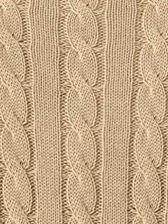 Cotton Cable Crewneck Sweater 1113-343-3880: Beige