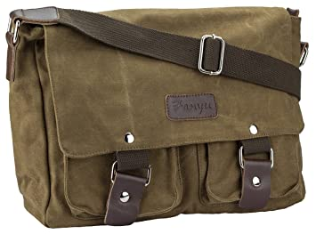 d561a5753fce Amazon.com : JS Fanyu Kangaroo Canvas Messenger Bag (Coffee) : Beauty