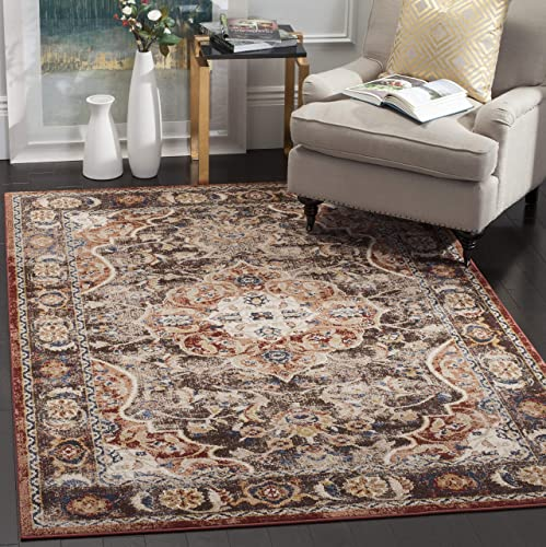 Safavieh Dhurries Collection DHU637D Hand Woven Navy and Ivory Premium Wool Area Rug 8 x 10