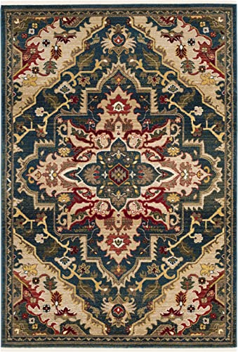 Safavieh Kashan Collection KSN304B Traditional Oriental Non-Shedding Stain Resistant Living Room Bedroom Area Rug
