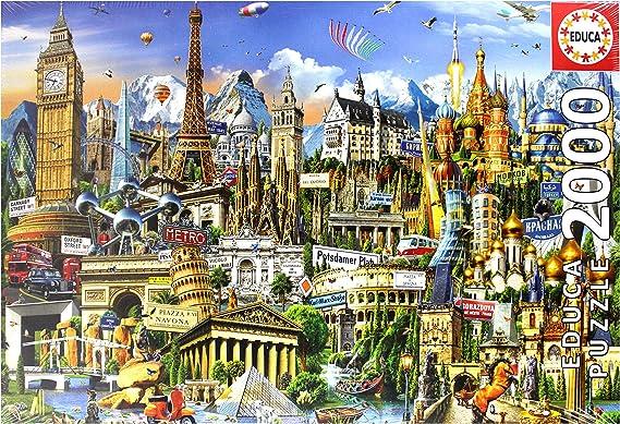 Educa Borras - Genuine Puzzles, Puzzle 2.000 piezas, Símbolos de Europa (17697): Amazon.es: Juguetes y juegos