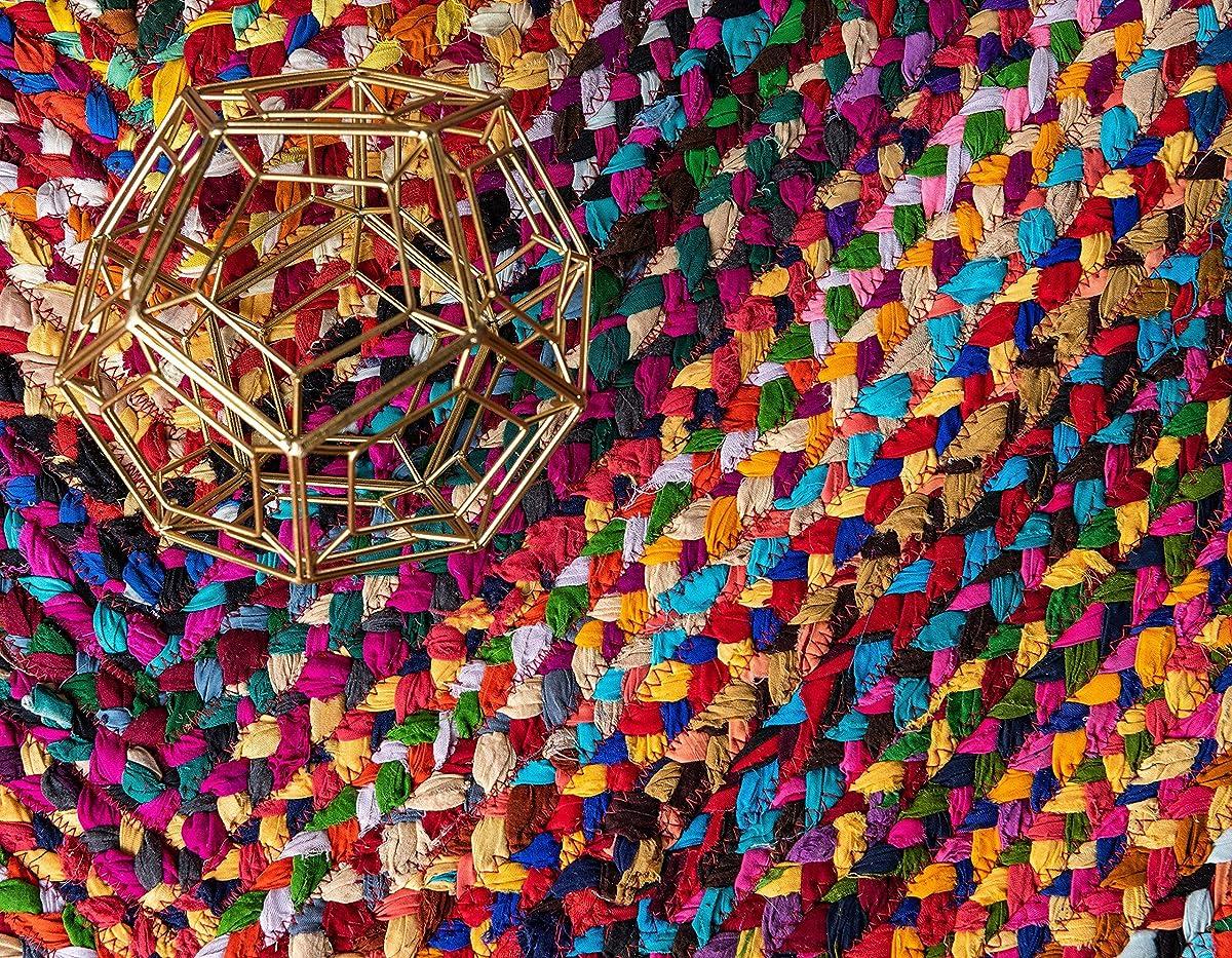 Unique Loom 3142669 Area Rug, 8 x 8 Square, Multi