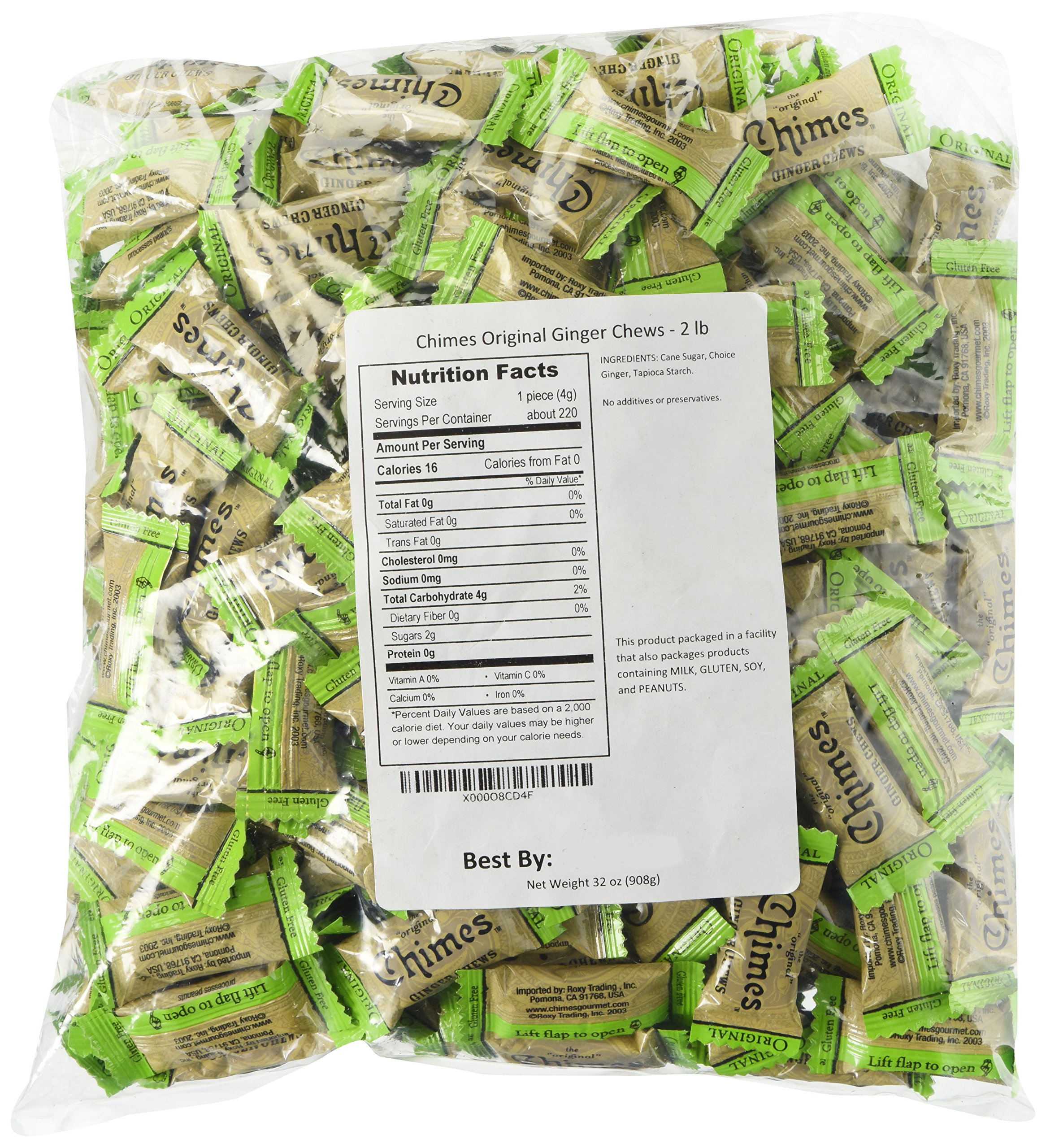 Chimes Original Ginger Chews, 2-pound bag by Chimes (Image #1)