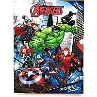 Marvel Avengers Libro para Colorear 80 páginas. Libro para Pintar, incluye personajes de Avengers: Capitan America, Iron Man, Hulk, Thor, Black Panther, Black Widow, Hawkeye y otros! Estimular Motricidad Fina. Entretenimiento y Aprendizaje. Kids Coloring Booklet, Marvel Coloring Book.