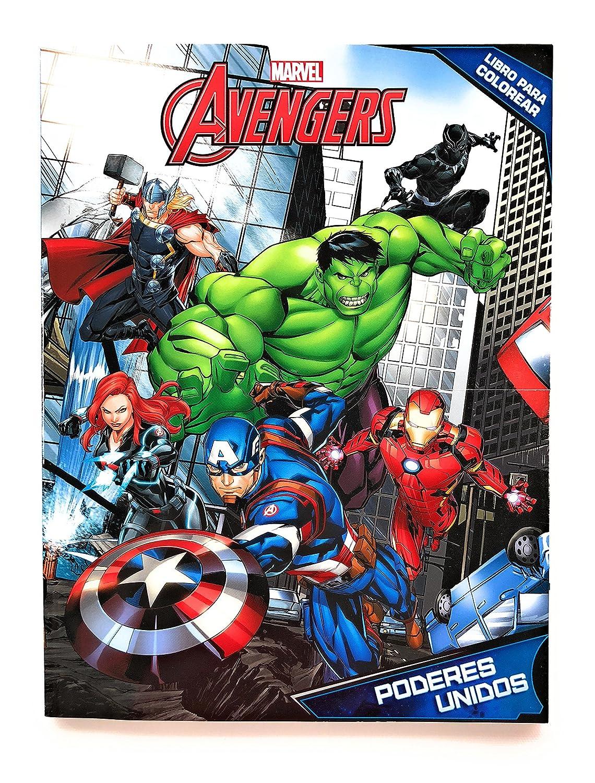 Marvel Avengers Libro Para Colorear 80 Páginas Libro Para Pintar Incluye Personajes De Avengers Capitan America Iron Man Hulk Thor Black