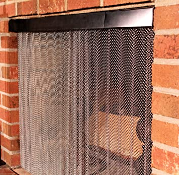 Amazon Com Enhance The Style Of Your Fireplace With A Mesh Screen
