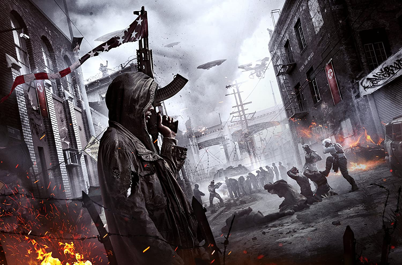 Homefront The Revolution Wall Decoration,Video Game Poster Print,Gun Artwork,Street Watercolor Print,Man Art Poster Size 24''x32'' (61x81 cm)