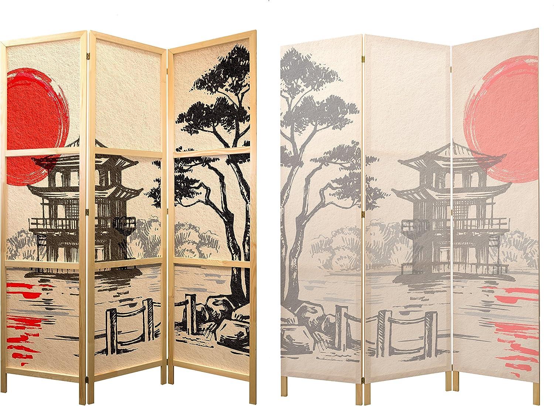 murando - Biombo XXL Japan Oriente Zen 225x171 cm 5 Paneles Lienzo ...