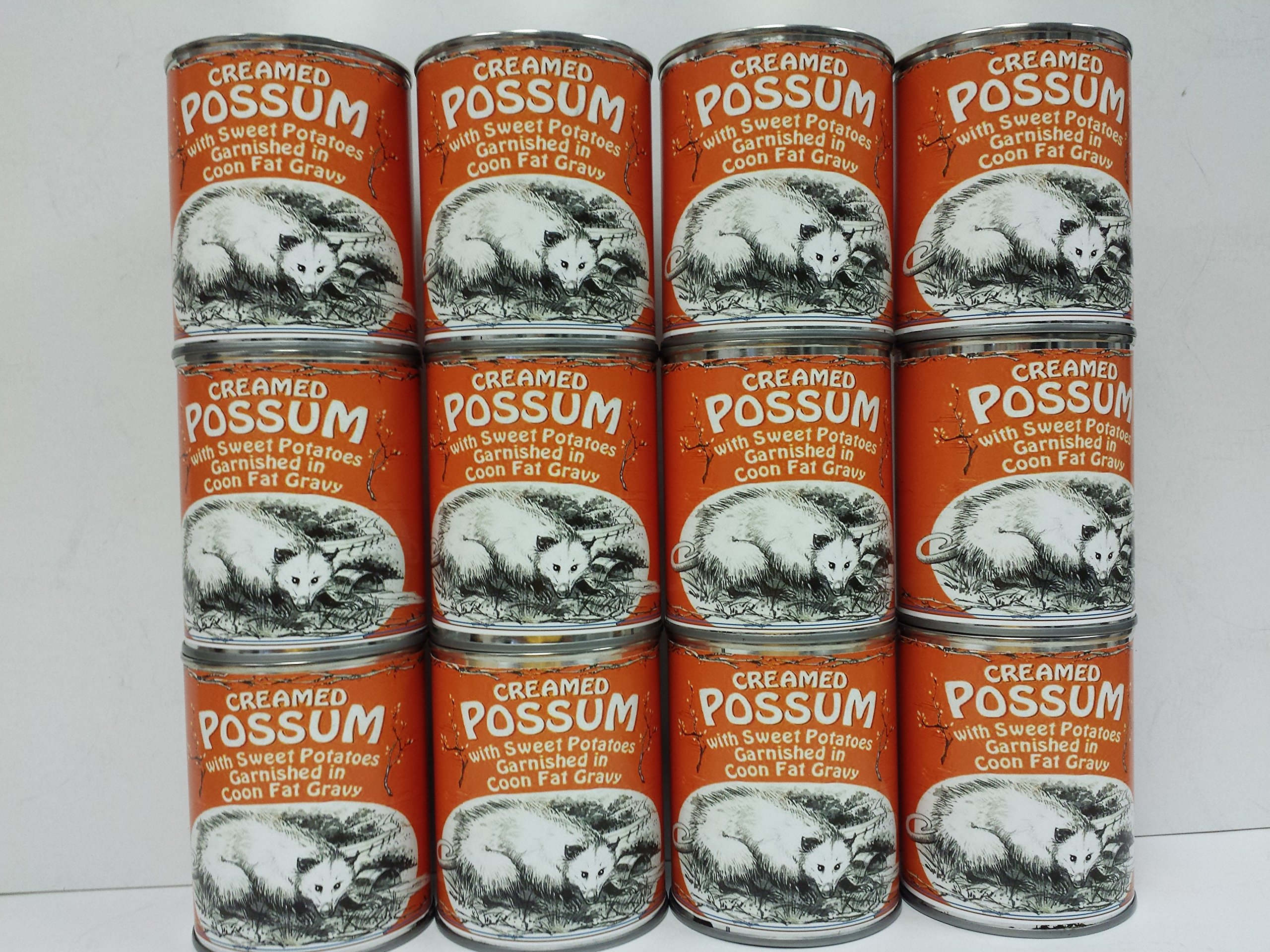 Gag Gift 12-Pack of Creamed Possum in Coon Fat Gravy Garnished with Sweet Potatoes by BluePirate