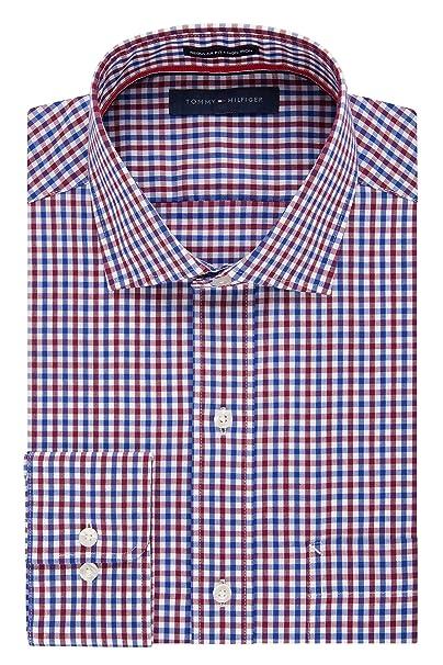 090be264a82 Tommy Hilfiger Hombre Non Iron Regular Fit Check propagación cuello camisa   Amazon.es  Ropa y accesorios