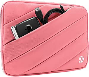 Vangoddy Nylon Aero Carrying Quilted Sleeve Pink Travel Case for Acer Iconia Tab, Switch One, Aspire Switch, 10 inch Tablet Laptop PC