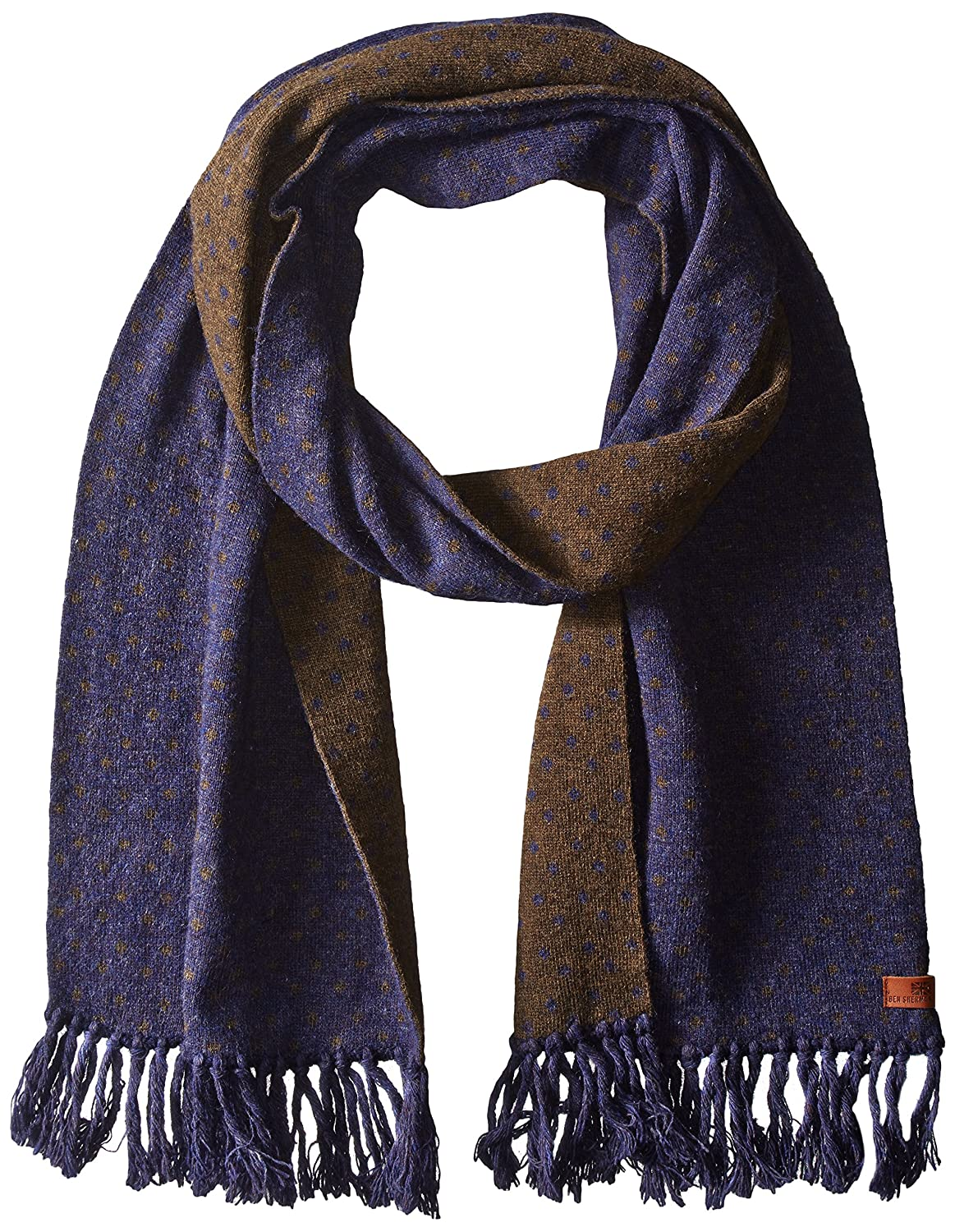 Ben Sherman Men's Micro-Dot Knit Scarf Navy Blazer One Size Ben Sherman Headwear BS4869