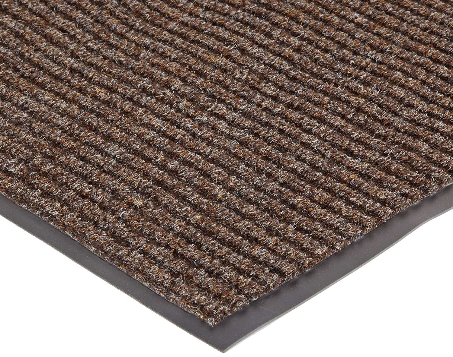 NoTrax 109 Brush Step Entrance Mat, for Lobbies and Indoor Entranceways, 3' Width x 5' Length x 3/8 Thickness, Brown Superior Manufacturing 109S0035BR