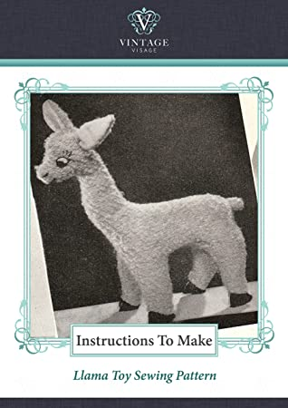 Nähmuster Spielzeug im Stil der 1940er Jahre aus Lumpen, Lama ...