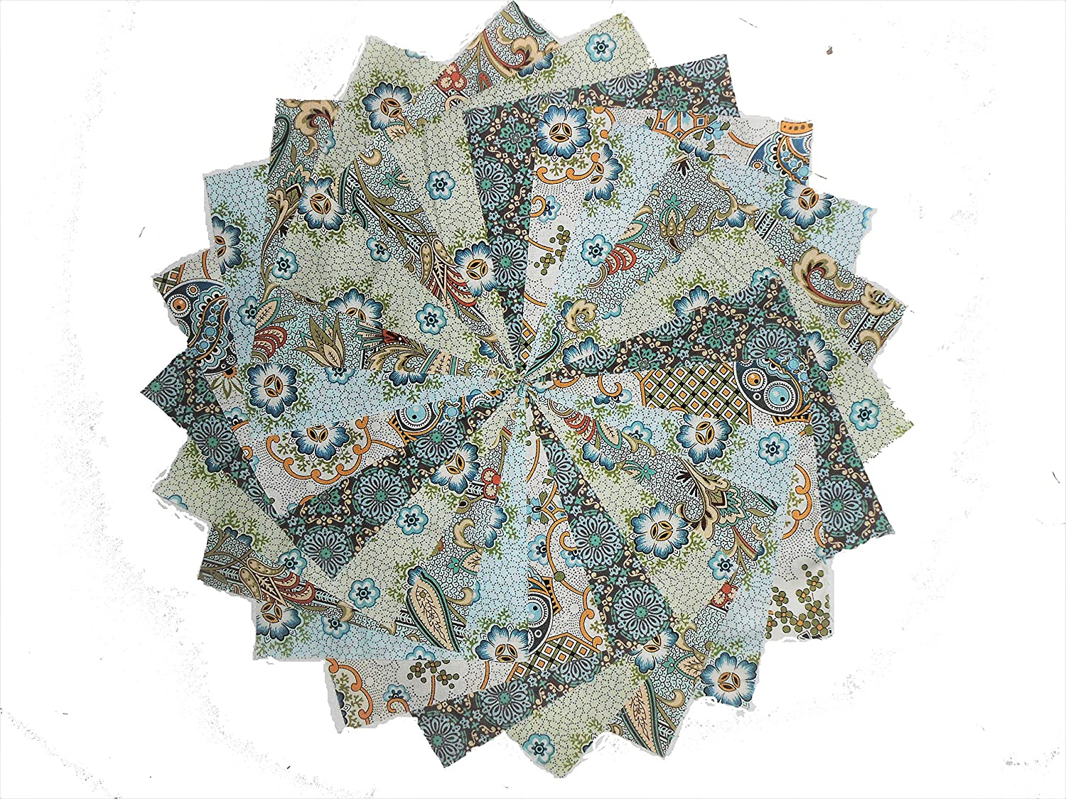 10 10 Inch Victorian Garden Quilting Squares Pack by Benartex & QT Fabrics 5 colorways