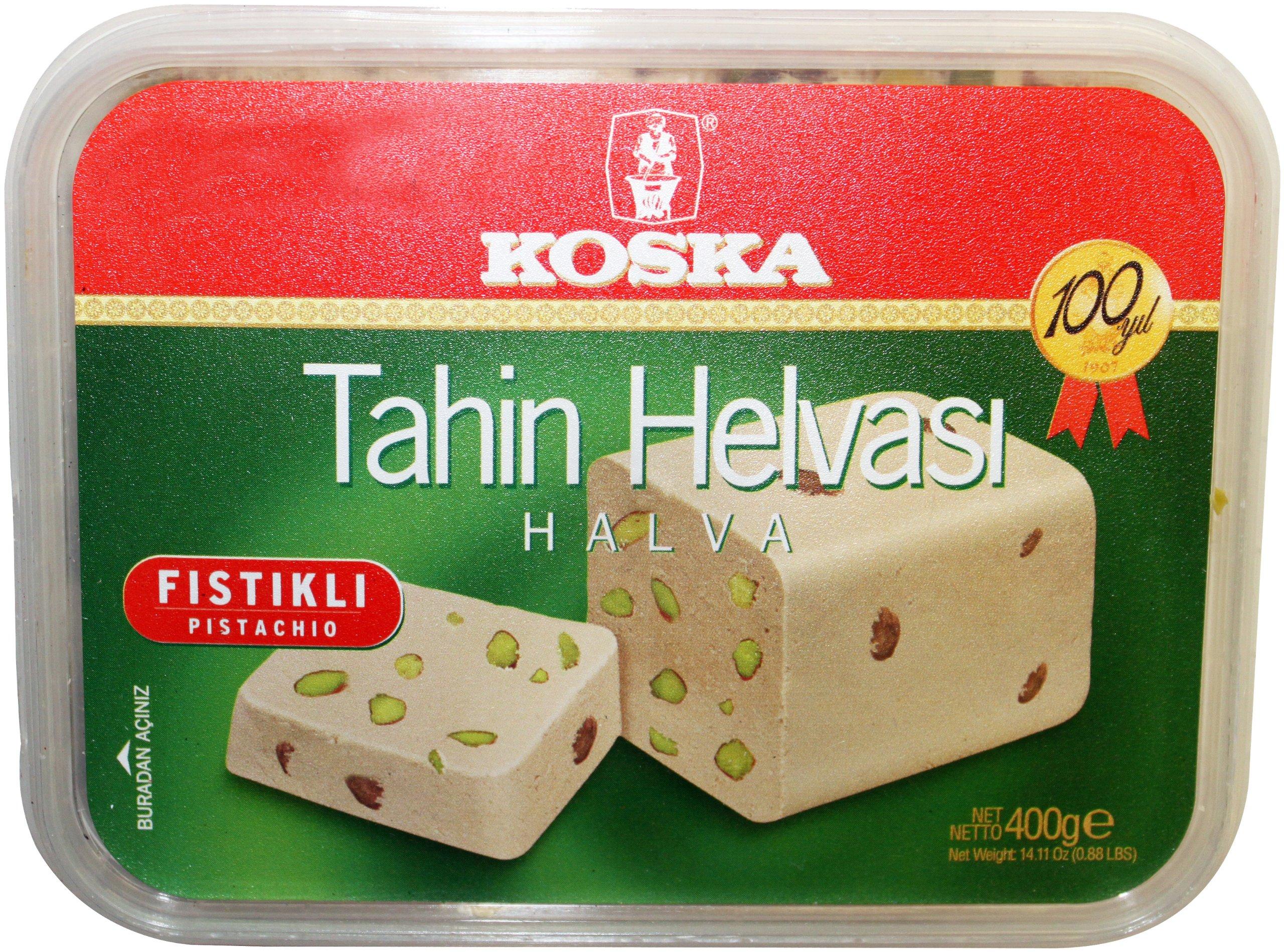 Koska Halva Pistachio, 400-Gram Boxes (Pack of 2) by Koska