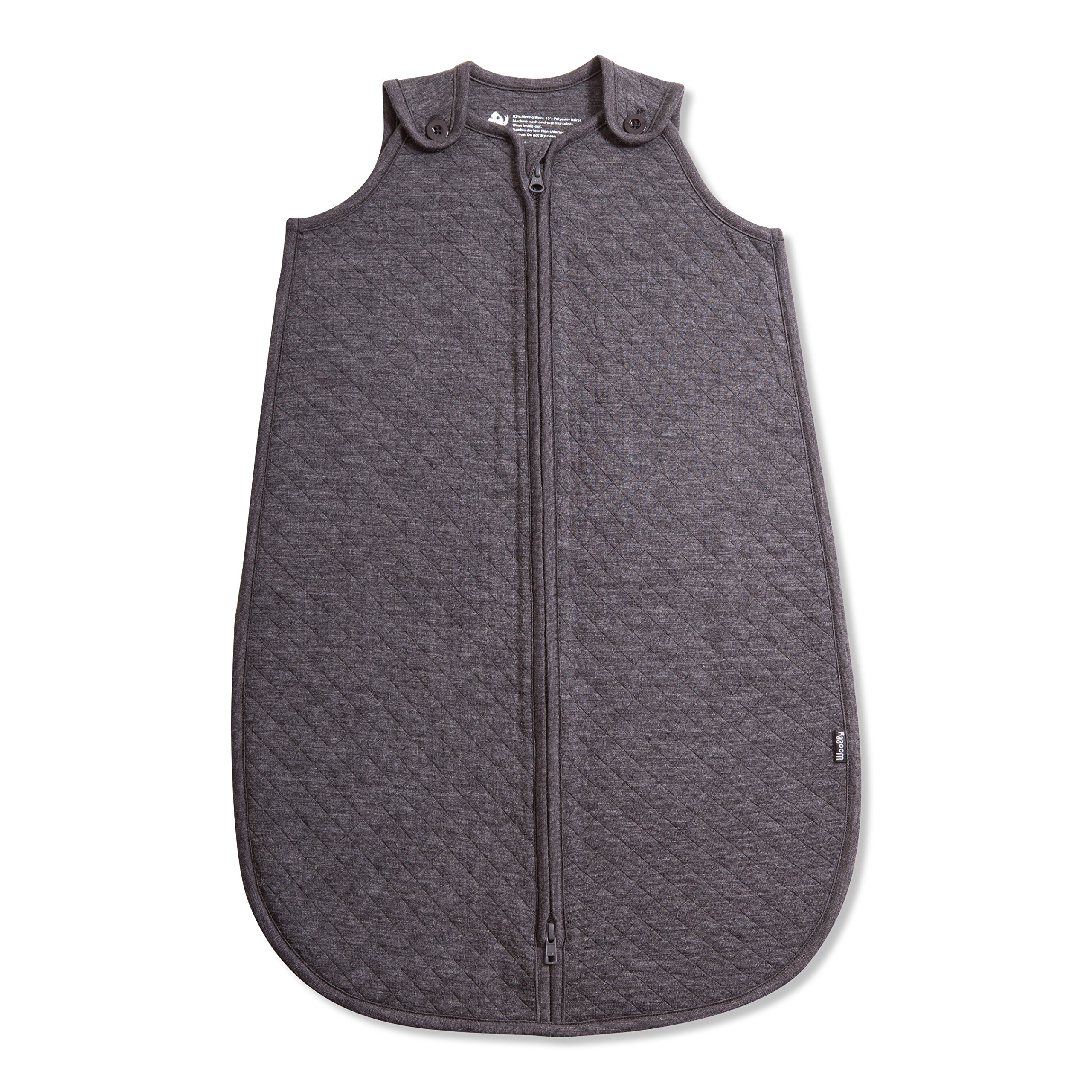 Woolly Clothing Co Merino Wool Quilted Infant Sleep Sack (310 GSM) Charcoal 18+ Months