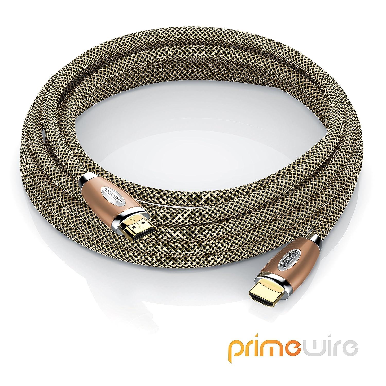 Primewire Ultra HD 4k HDMI Cable de blindaje triple 4K Ultra HD 2160p // 3D // ARC y CEC cobre 5m cable de HDMI Alta velocidad con Ethernet blindaje de conector y contactos
