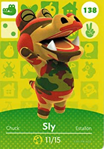 Nintendo Animal Crossing Happy Home Designer Amiibo Card Sly 138/200 USA Version